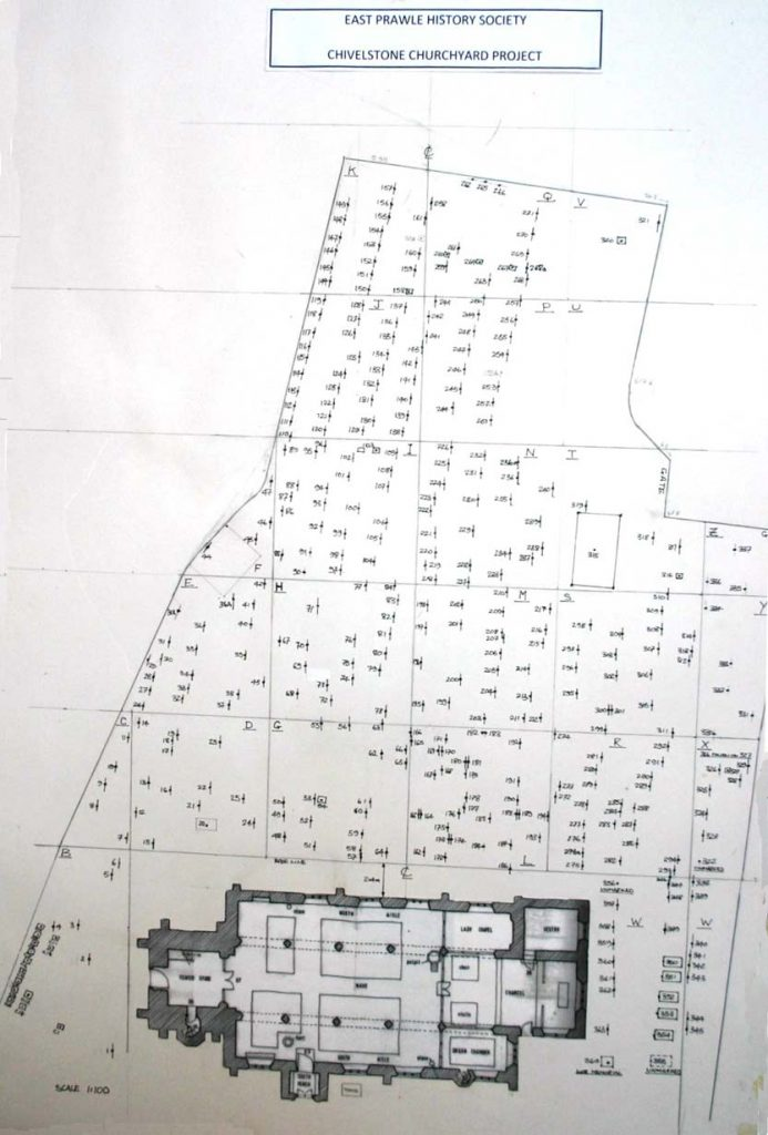Map of St Sylvester's Graveyard 2014