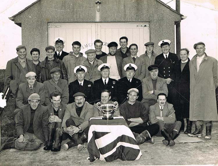 East Prawle LSA rocket apparatus Sunday 16 February 1964, with Webber cup won in 1963 competitions with 25 LSA teams