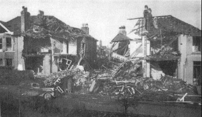 German lone ranger aircraft on a reconnaissance mission attacked Kingsbridge High Street, 2 January 1942